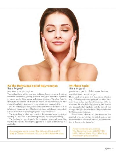 Skin Resurfacing and Photofacial in Singapore - Is this for you?