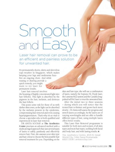 Laser Hair Removal Singapore - Remove Unwanted Hair Efficiently and Painlessly at The Aesthetics Centre