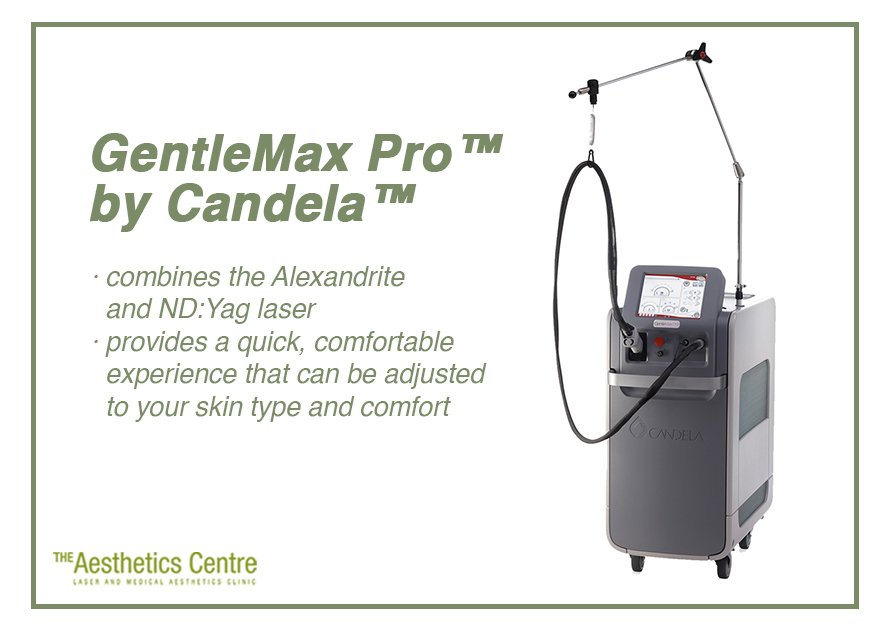 The Aesthetics Centre - GentleMax Pro by Candela